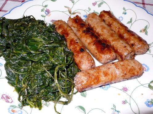 salsicce e cicoria