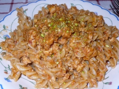 Fusilli with Swordfish and Pistachios