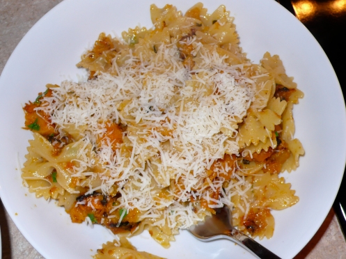 farfalle with roasted butternut squash