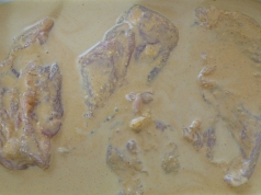 chicken marinating