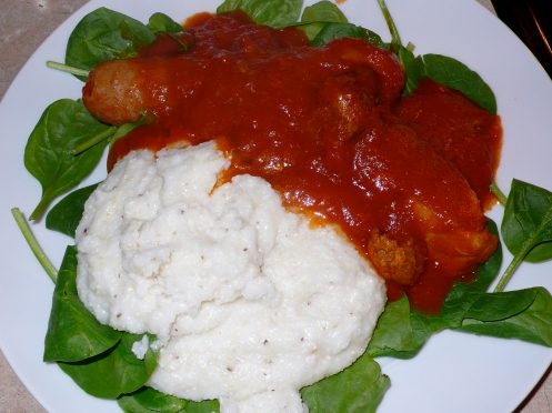 ragù napoletano with grits