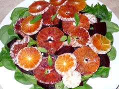 spinach, beets & blood oranges