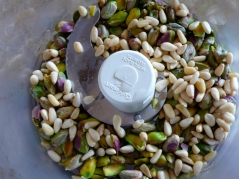 pistachios and pine nuts