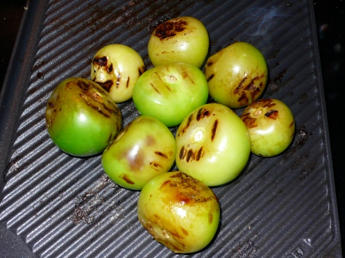grilled tomatillos