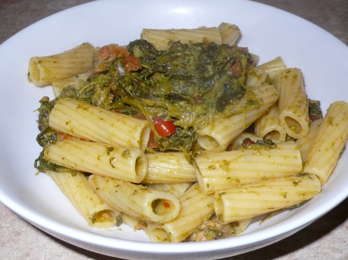Rigatoni with Sausages and Broccoli Rabe