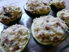Ligurian Stuffed Zucchini