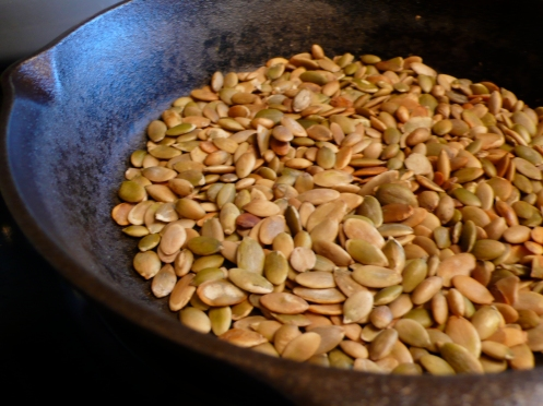 toasted green pumpkin seeds