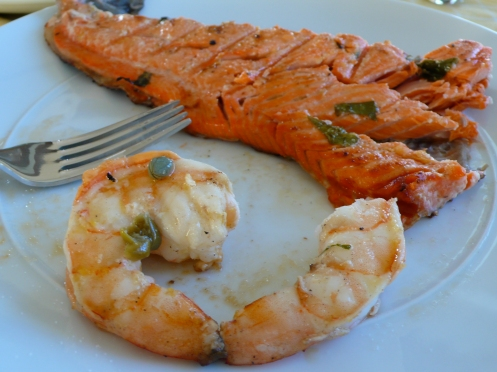 shrimp and salmon