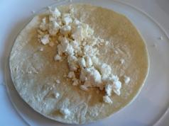 corn tortilla with queso fresco