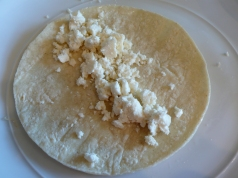 corn tortilla with queso fresco