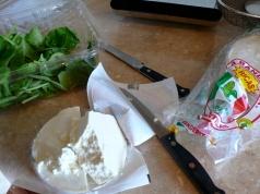 queso fresco, spinach