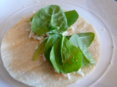 spinach and queso fresco