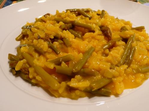 risotto agli asparagi e zafferano