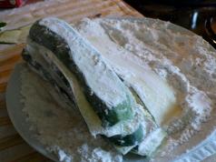 zucchini in flour