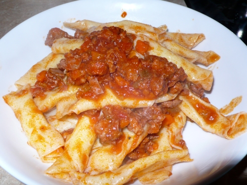 garganelli with sausage ragu