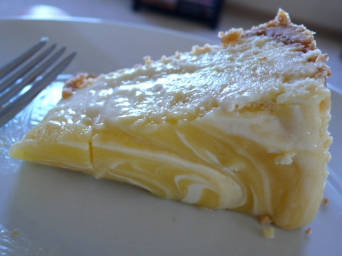 Lemon Curd Marbled Cheesecake | Italicious