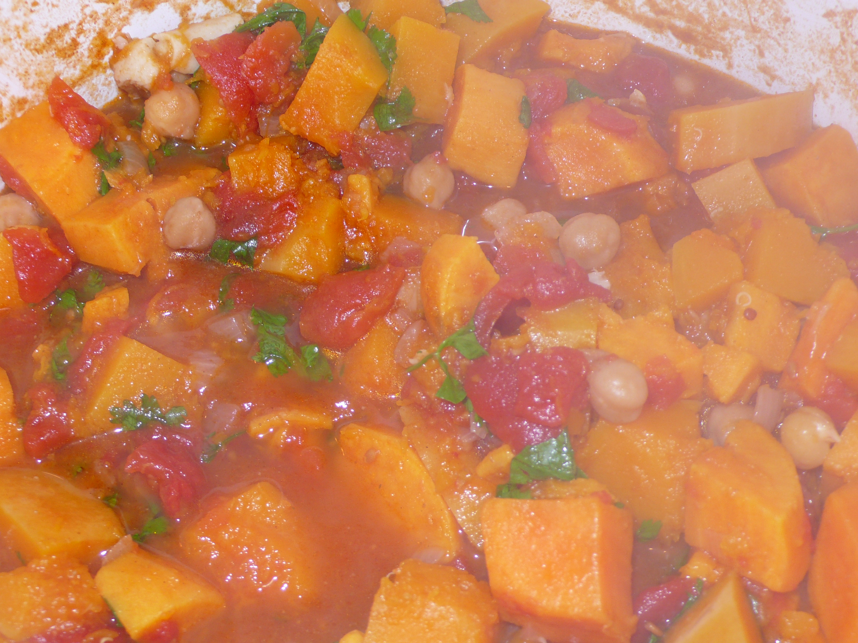 Squash and Chickpea Moroccan Stew | Italicious