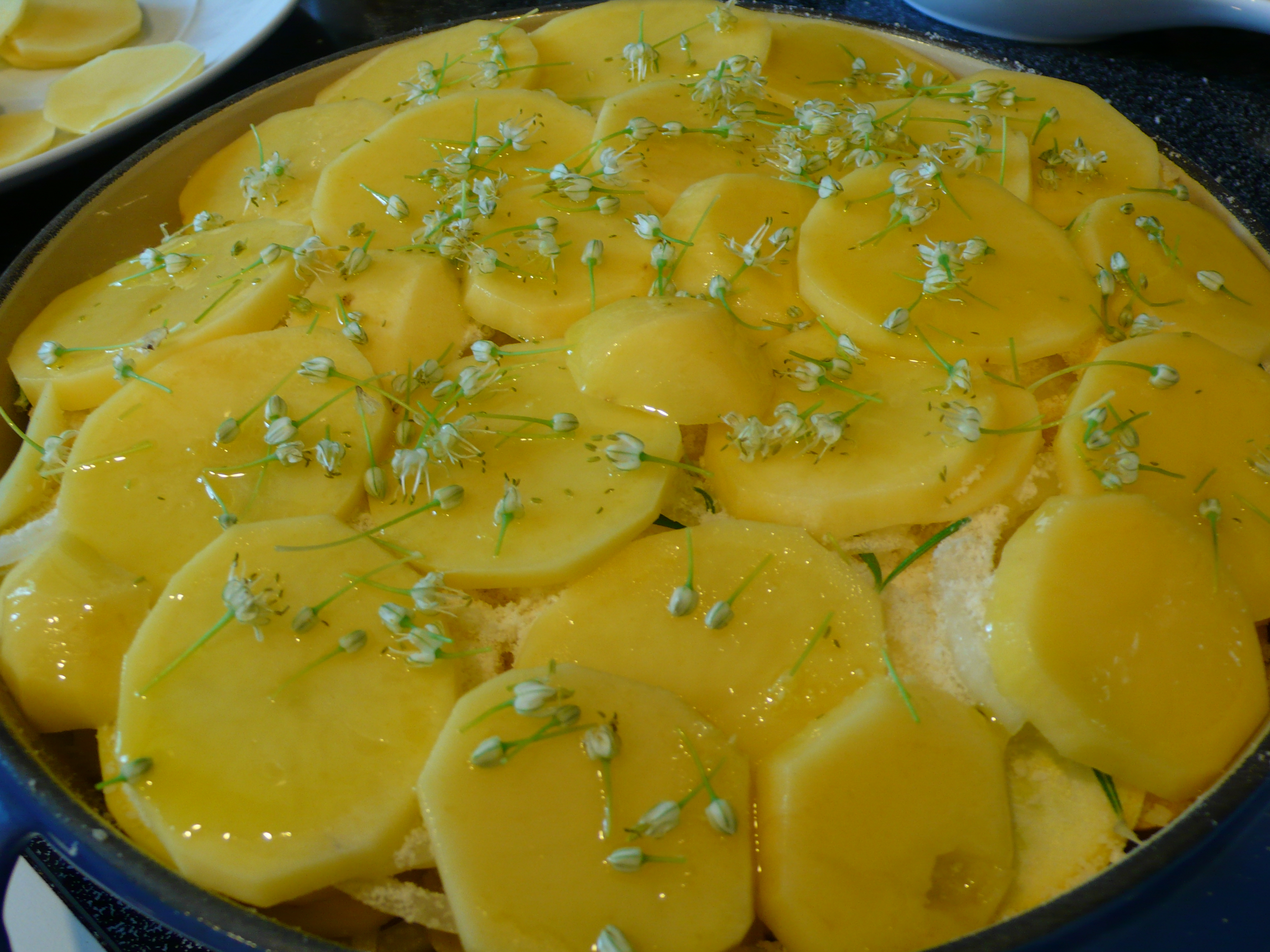 summer squash with baked eggs herbed summer squash and potato torte ...
