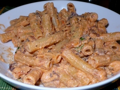 Ziti with Grilled Sausages & Ricotta