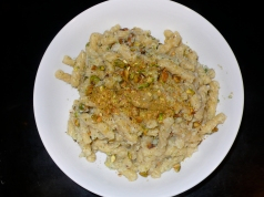 Mantecato of Flounder and Fennel over Gemelli with Pistachios