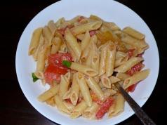 Green Tomato Summer Pasta