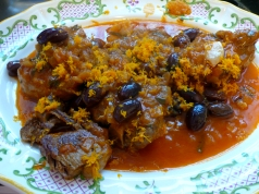 Lamb Shanks with Oranges and Olives